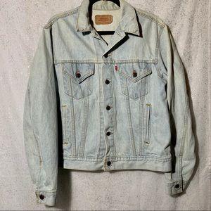 Vintage Levi's jean jacket light wash unisex fit